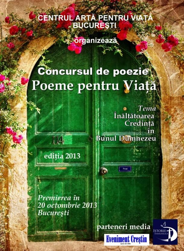 CONCURSUL DE POEZIE 2013_poeme pentru viata