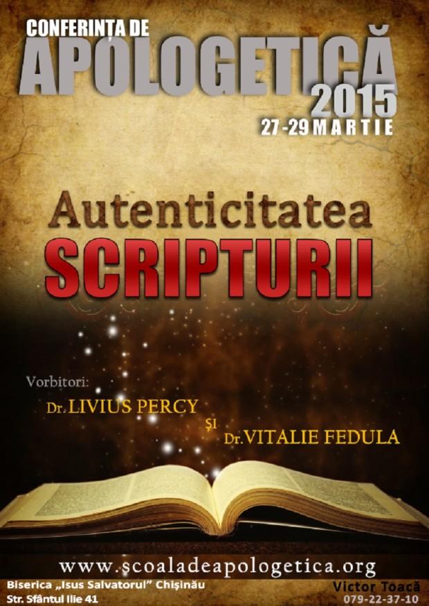 CNA Autenticitatea Scripturii 2015