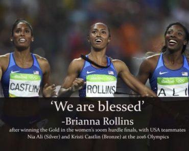 """Câştigătoarea medaliei de aur Brianna Rollins: """"Vreau să fiu cunoscută ca sportiva care îl glorifică pe Dumnezeu"""""""