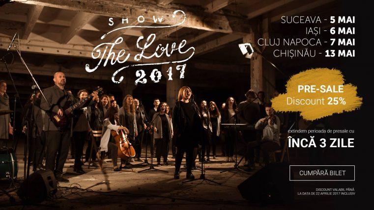 """Turneul """"Show The Love"""" marca """"Sanctus Pro Deo"""" la cea de-a II-a ediţie în România şi în premieră în Republica Moldova"""