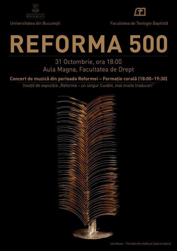 """EXPOZIŢIE: """"Reforma – un singur Cuvânt, mai multe traduceri"""" la Universitatea Bucureşti"""