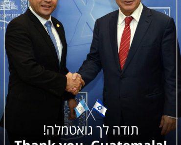 Președintele Guatemalei anunță mutarea ambasadei sale la Ierusalim