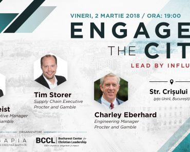 "Seminar pentru lideri: ""Engage the city - Lead by influence"" la București"