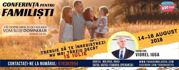 Conferința pentru Familiști cu Viorel Iuga, la Vatici, Republica Moldova