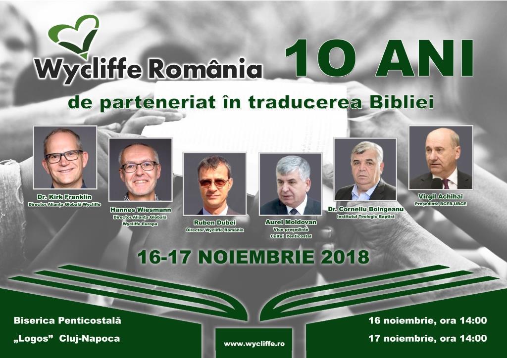 Wycliffe România - 10 ani de parteneriat în traducerea Bibliei