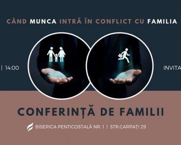 """Conferința """"Când munca intră în conflict cu familia"""" la Cluj-Napoca"""