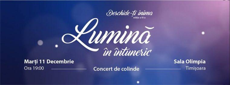 """Celebrați Lumina în cea de-a VI-a ediție a concertului """"Deschide-ți inima"""", la Timișoara"""