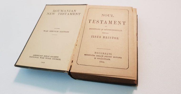 Biblia din tranșeele anului 1918 - o ediție de buzuzar pentru soldații Primului Război Mondial