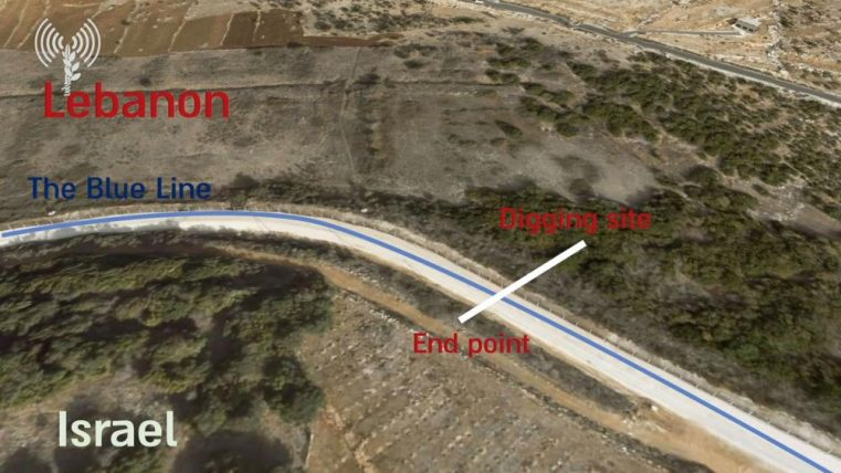 Patru tuneluri găsite la granița cu Israel
