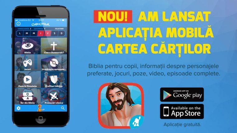 Alfa Omega TV a lansat aplicația mobilă Cartea Cărților în limba română!