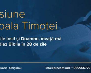 Școala Timotei începe anul cu cercetarea Scripturilor la Chișinău