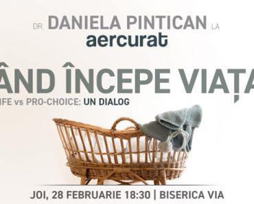 """""""Când începe viața?"""" – un dialog cu Daniela Pintican la Cluj-Napoca"""