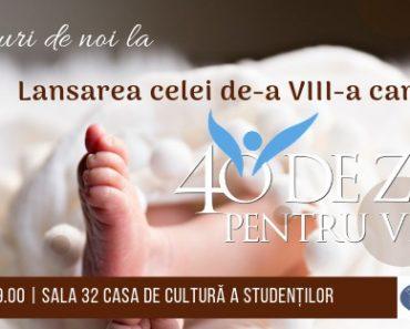 """""""O viață înseamnă o generație"""" - mesajul campaniei """"40 de zile pentru viață"""" 2019 la Cluj-Napoca"""