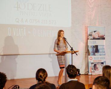 """Daniella Pintican despre sarcină și viață la Conferința """"O viață = O generație"""""""