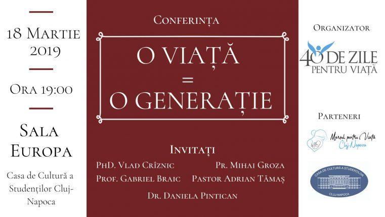 "Conferința ""O viață, o generație"" la Cluj-Napoca"
