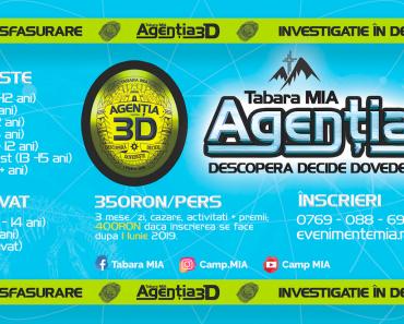 """""""AGENȚIA 3D"""" în Taberele MIA 2019 la Târgoviște și Șiștarovăț"""