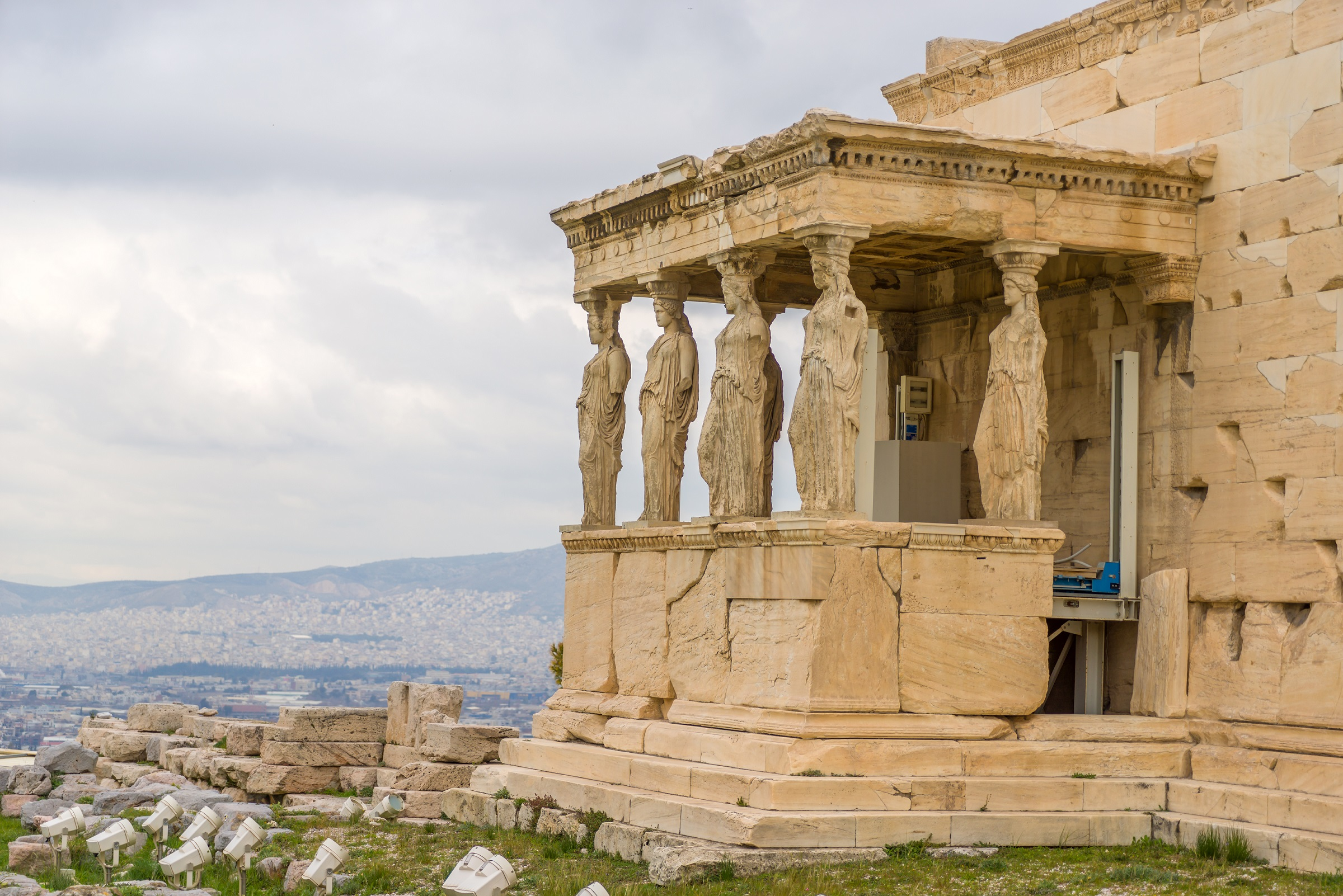 Columns of the Acropolis (Propilea) Athens Greece